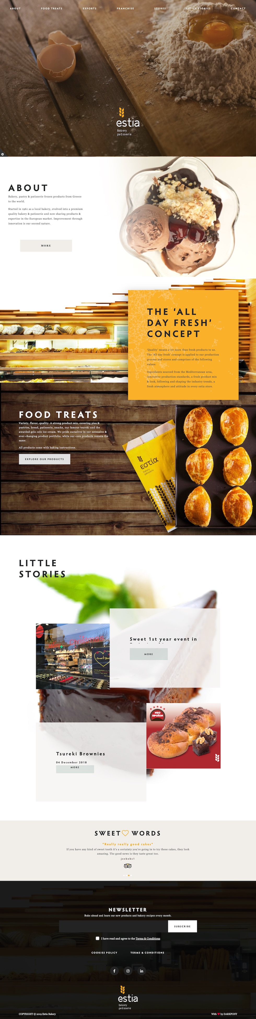 istoselida-estia-bakery-website-design-development