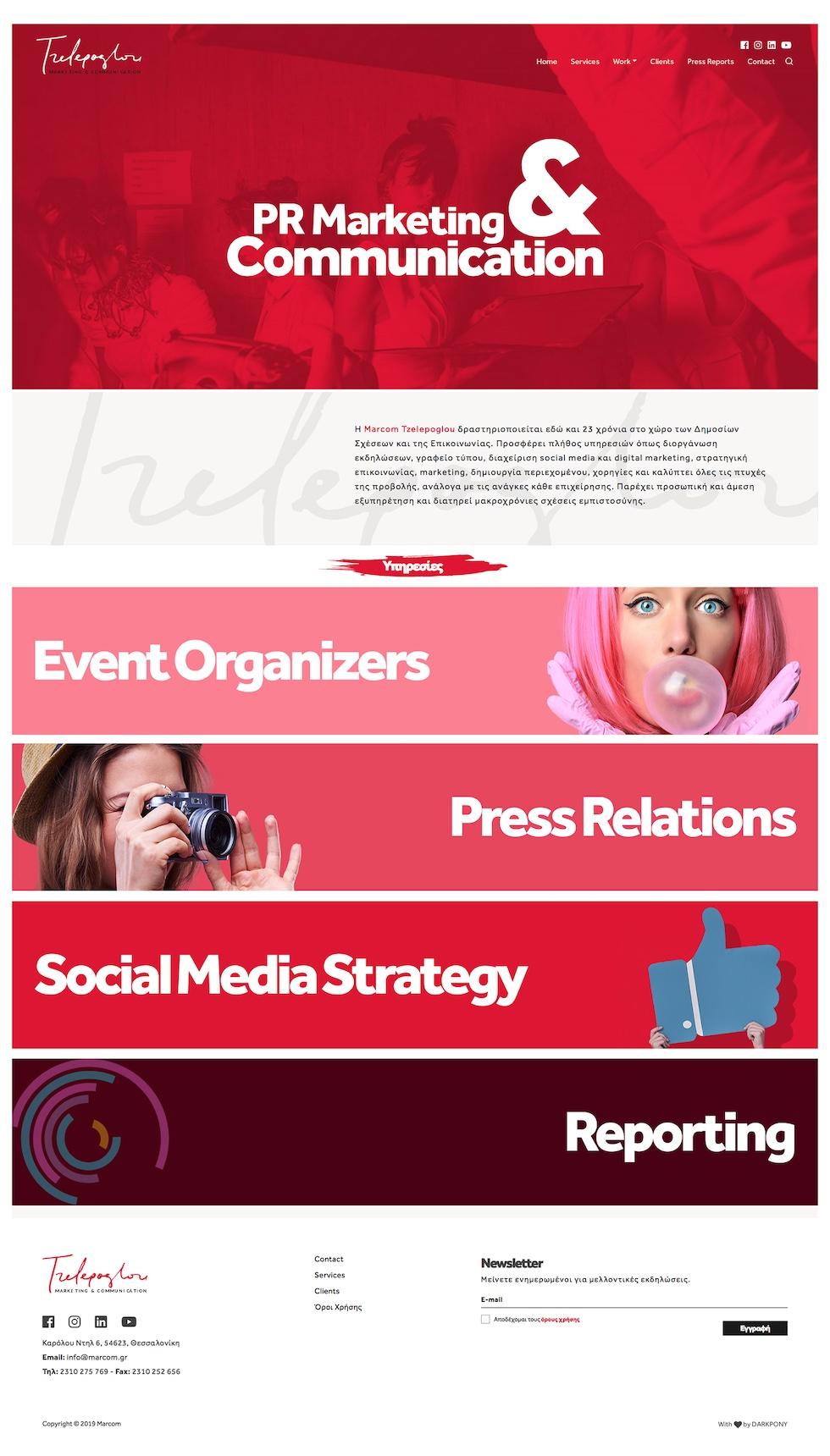 Marcom Tzelepoglou Homepage