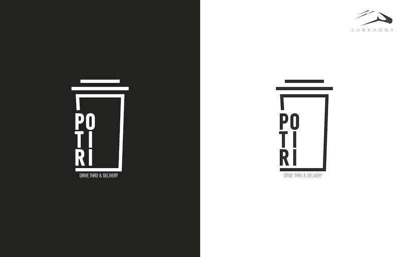 POTIRI drive- through Branding Logo 1